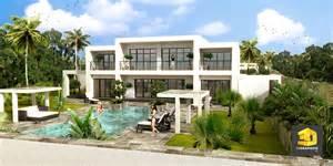 plan moderne de villas chaios