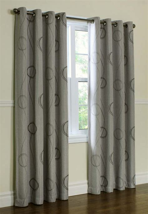 gray and white blackout curtains 25 x 96 inch blackout lined grey zig zag grommet curtains