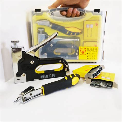 nail staple gun with puller staple remover stapler for