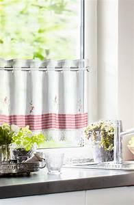 Panneaux Gardinen Landhaus : k chengardinen im landhausstil mit spitzenbord re vichy einsatz gardinen outlet ~ Markanthonyermac.com Haus und Dekorationen