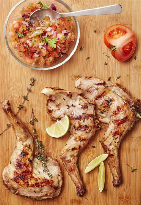 gigolettes de lapin au barbecue parfum 233 es au thym et au citron et salsa de tomates le grand