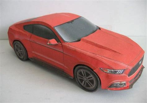 This Paper Car Is A Ford Mustang, Created By Kin Shinozaki