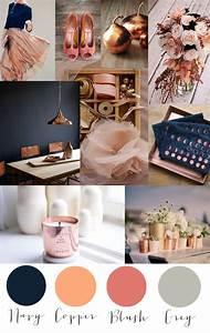 Was Ist Ein Moodboard : colorcrush kupfer navy blush und grau oh so pretty inspired ~ Markanthonyermac.com Haus und Dekorationen