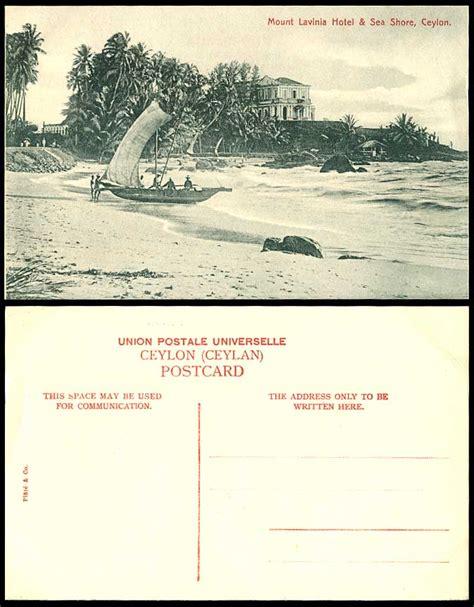 Catamaran Beach Hotel Mount Lavinia by Ceylon Old Postcard Mount Lavinia Hotel Sea Shore