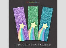Free Rainbow Glitter Bookmarks Free Printables Online