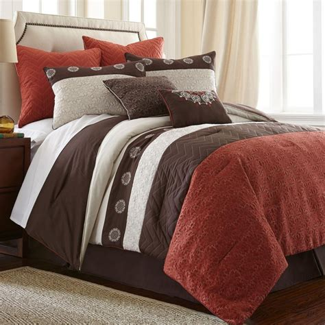 Bright To Burnt Orange And Brown Comforter & Bedding Sets