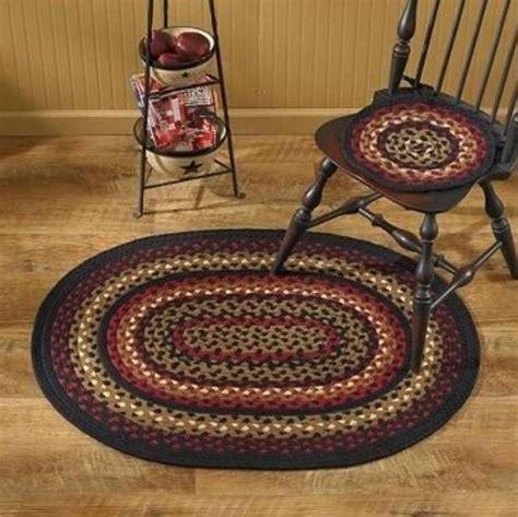 folk country braided chair pad