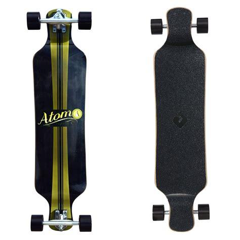 atom 39 quot micro drop deck longboard artisan brown