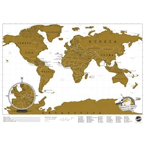 carte du monde 224 gratter edition voyage cadeau maestro