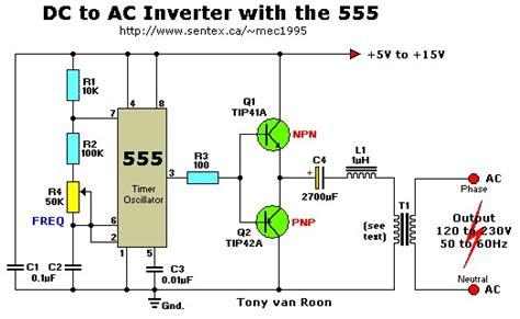 12vac To 220vac Inverter Circuit  Inverter Circuit And