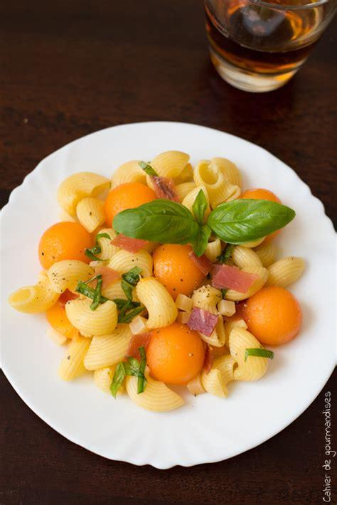 salade de p 226 tes au melon jambon cru et parmesan cahier de gourmandises