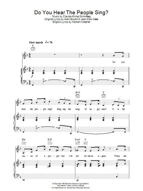 do you hear the sing sheet direct