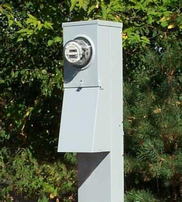 200 Amp Metered Mobile Home Electrical Service Pedestal
