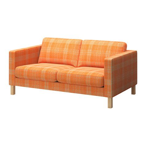 karlstad housse de canap 233 2pla husie orange ikea