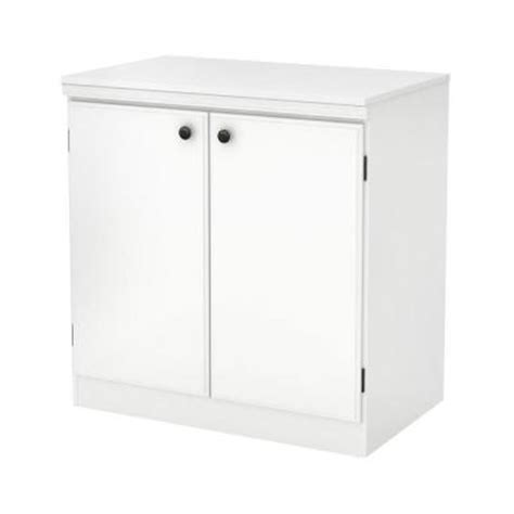 south shore 2 door storage cabinet in white 7260722 the home depot