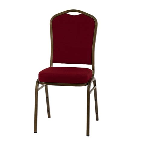 hercules series crown back stacking banquet chair in burgundy fabric gold vein frame fd c01