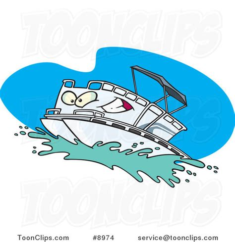 Cartoon Boat Characters by Cartoon Pontoon Boat Character 8974 By Ron Leishman