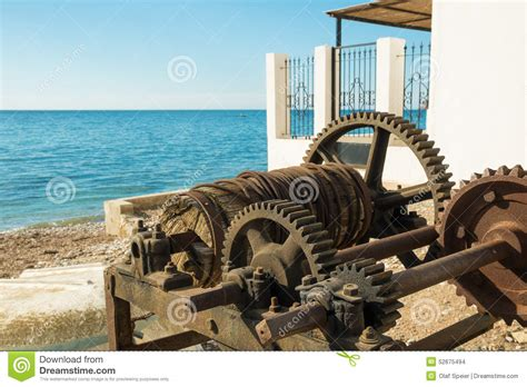 Old Boat Winch by Old Winch Stock Photo Image 52675494