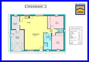 plan maison plain pied 70m2 gratuit
