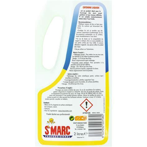 lessive oxydrine st marc liquide 2 l de nettoyant mur 1066416 mon magasin g 233 n 233 ral