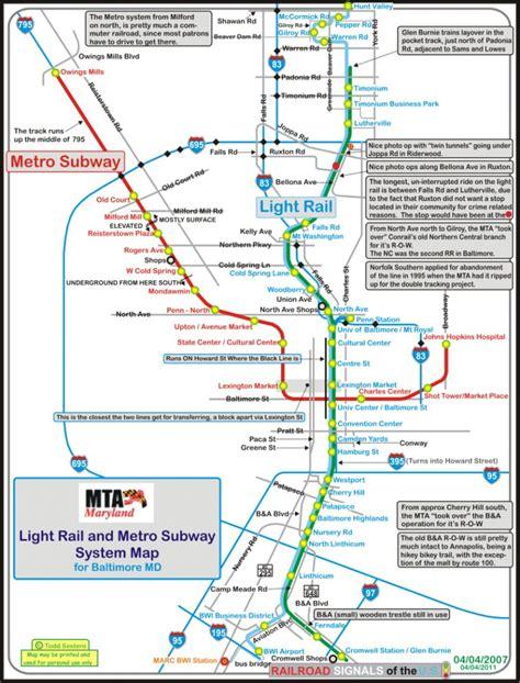 baltimore light rail stops the baltimore light rail system