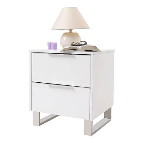table de nuit design laqu 233 e blanche halifax achat vente table de chevet pas cher couleur et