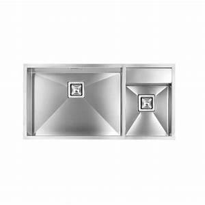 Edelstahl Spüle Doppelbecken : cm ariel 100x50 einbausp le doppelbecken edelstahl geb rstet fab a ~ Markanthonyermac.com Haus und Dekorationen