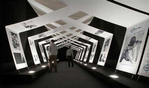 exhibition swag beautiful use of modern draped panels to display content and creat spatial