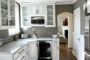 white cabinets with gray backsplash home design ideas