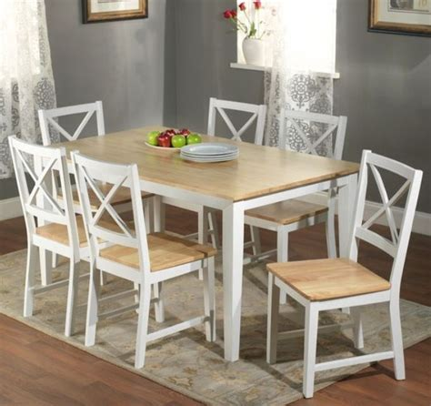 5 Dining Room Set With Bench by 7 Pc White Dining Set Kitchen Room Table Chairs Bench Wood