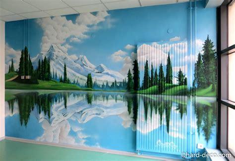 fresques murales trompe l œil de grands espaces