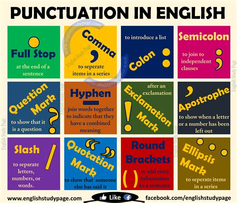 Punctuation In English  English Study Page