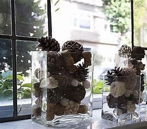 Fensterbank Dekorieren Wohnzimmer : fensterbank dekorieren mit zapfen freshouse ~ Markanthonyermac.com Haus und Dekorationen