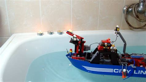 Rc Fire Boat Youtube by Lego Technic Rc Fire Boat With Working Water Cannon Youtube