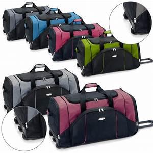 Reisetasche Auf Rollen : sporttasche reisetasche mit rollen trolley koffer 95l 130l gr n rot blau grau ebay ~ Markanthonyermac.com Haus und Dekorationen
