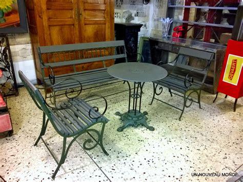 brocante d 233 coration un nouveau monde salon de jardin charles x fer forg 233 et bois