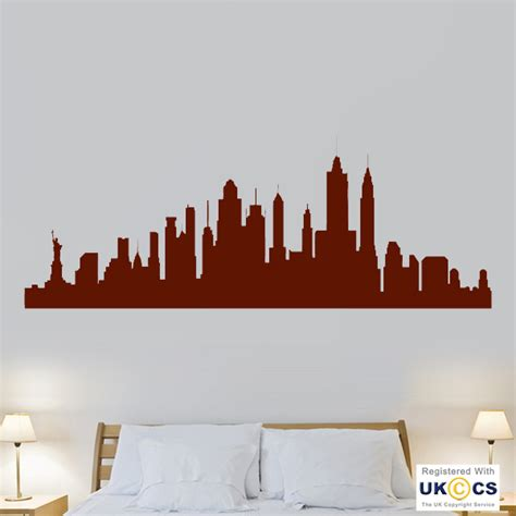new york city skyline cool living room wall stickers decals vinyl home decor ebay