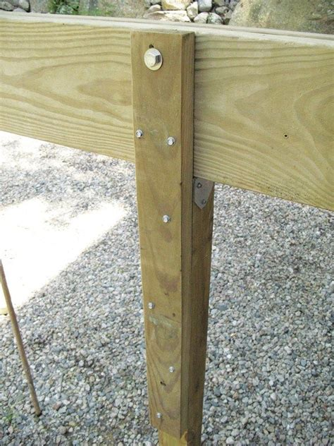 when a beam is supported by a 4x4 post which cant be notched a 2 by splice block bolted and