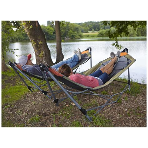 guide gear portable folding hammock 172580 hammocks at