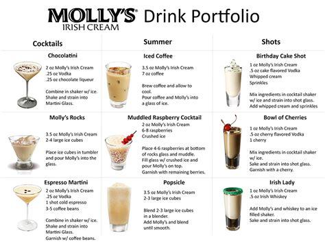 drinks with irish cream liqueur