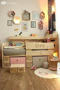 Hochbett Aus Paletten : romantic toddler bed with pallets 1001 pallets ~ Markanthonyermac.com Haus und Dekorationen