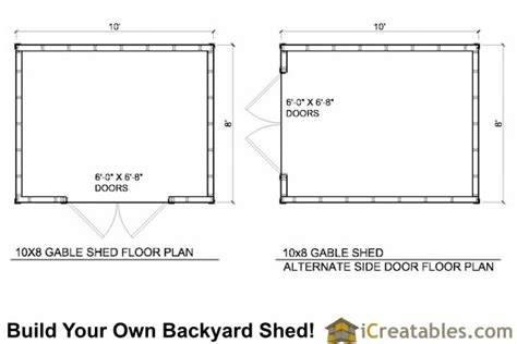 10x8 shed plans 10 wide by 8 shed plans