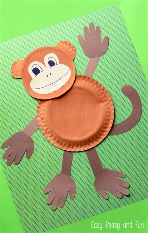 Paper Plate Monkey  Fun Paper Plate Crafts For Kids