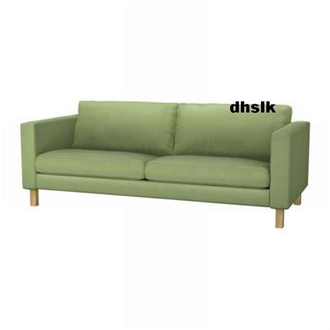 ikea karlstad 3 seat sofa slipcover cover korndal green