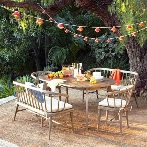 best patio decoration idea with magnificent furniture of table and chairs made of wodeen
