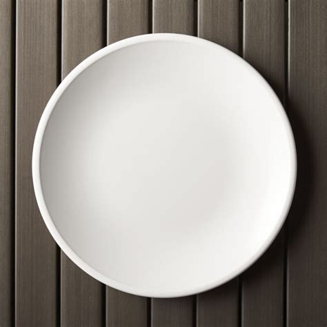 "Lunea Melamine White 10.5"" Dinner Plate   Crate and Barrel"