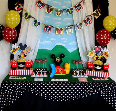 40+ Mickey Mouse Party Ideas  Mickey's Clubhouse Pretty