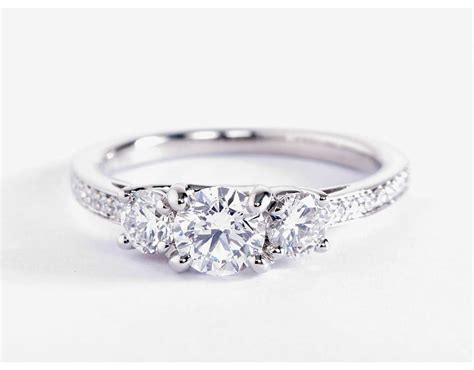 Three Stone Pavé Diamond Engagement Ring In Platinum (23. Batu Rings. Leafy Engagement Rings. Colorful Stone Engagement Rings. Caravaggio Wedding Rings. Paiz Engagement Rings. Heart Gallery Engagement Rings. Million Dollar Wedding Rings. Osmium Wedding Rings