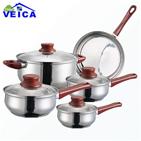 2016 cookware set high grade stainless steel 5 pieces cookware set cooking pots with frypan pot