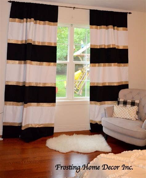 25 best ideas about gold curtains on black
